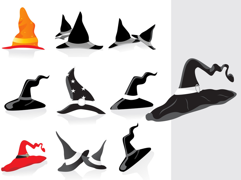 Collection Of Halloaween Hat With Background