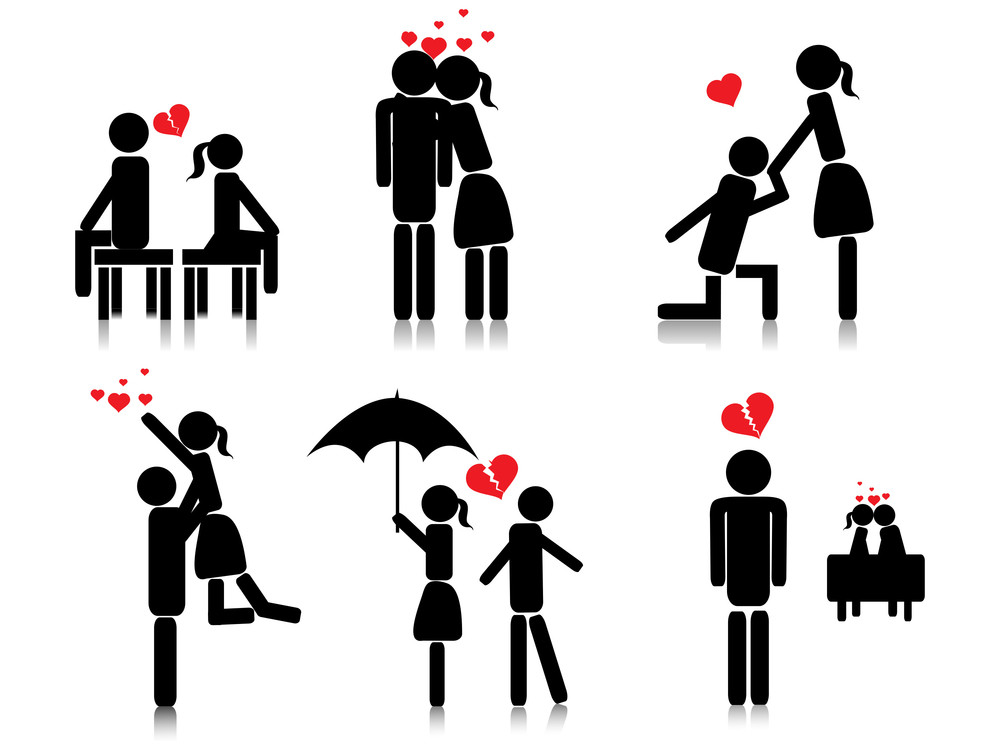 Collection Of Romantic Couple Silhouette