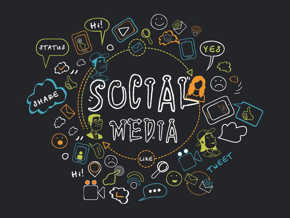 社交媒體圖標集