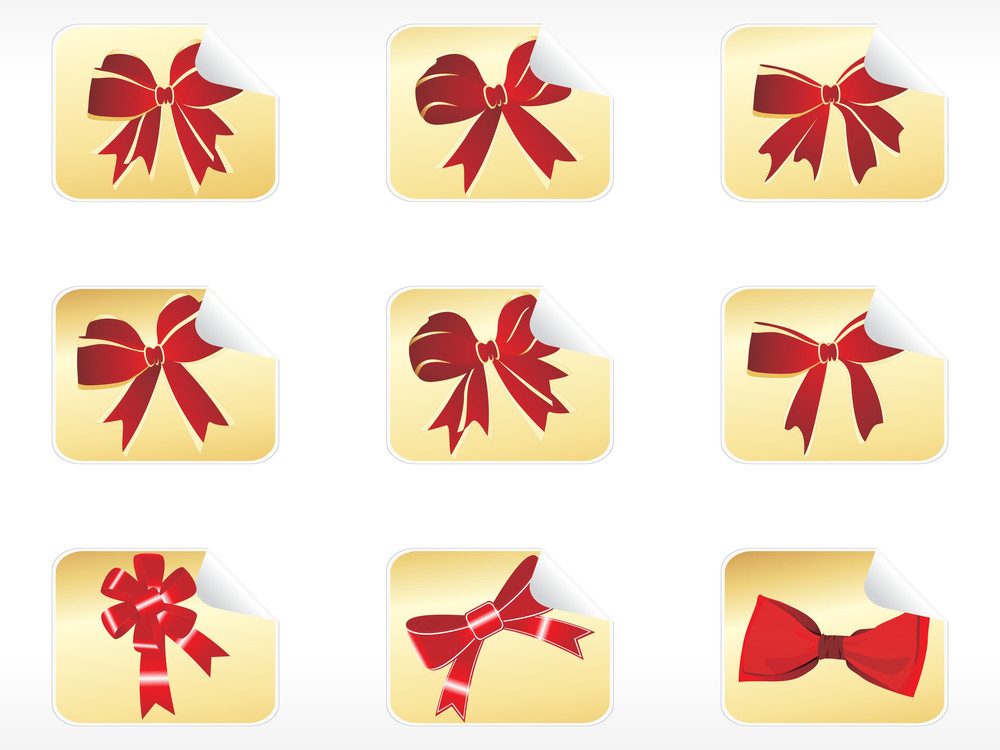 Collection Of Vector Red Bows