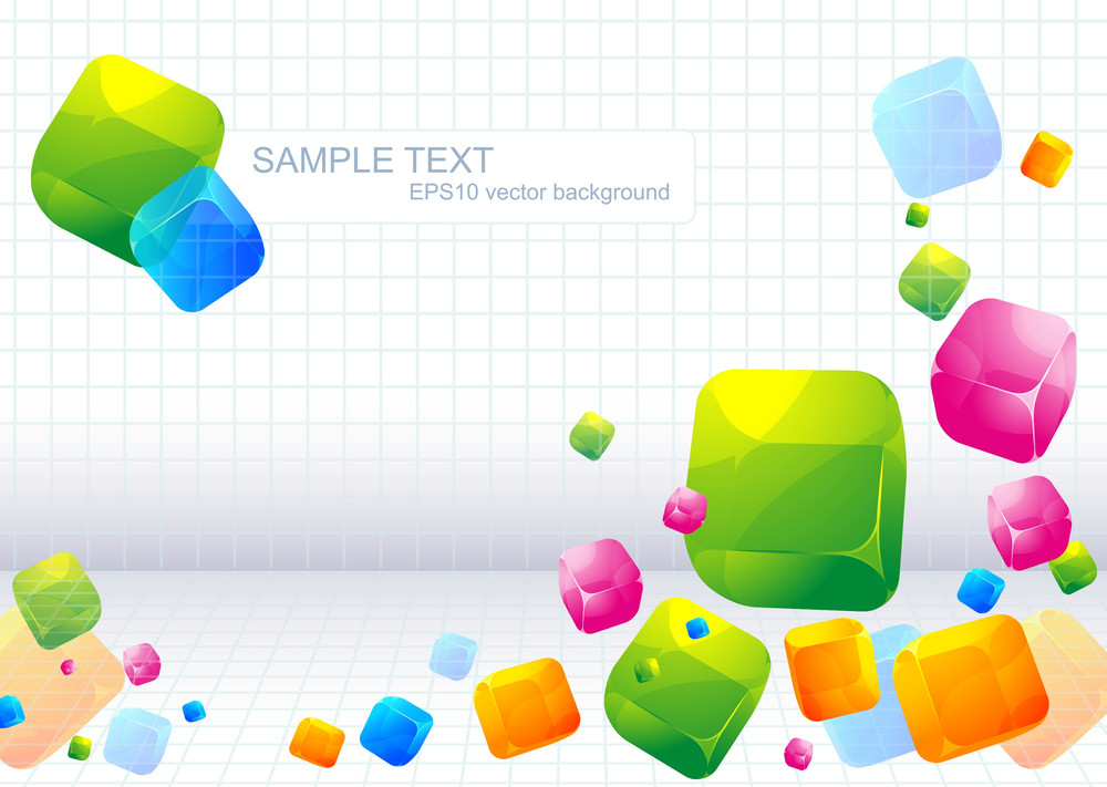 Color Abstract Vector Background Royalty Free Stock Image