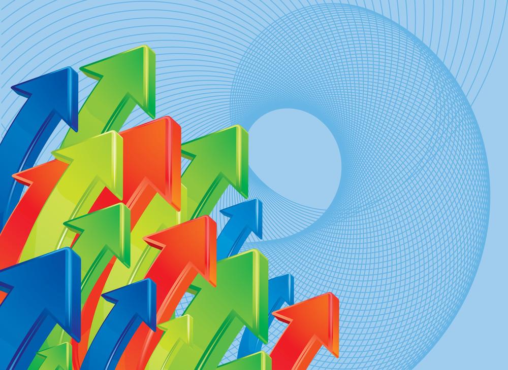 Color Arrow Vector Background.