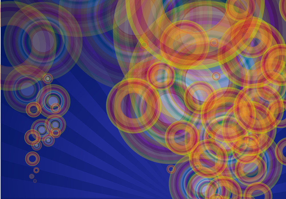 Color Bubbles On Glue Glowing Vector Background.