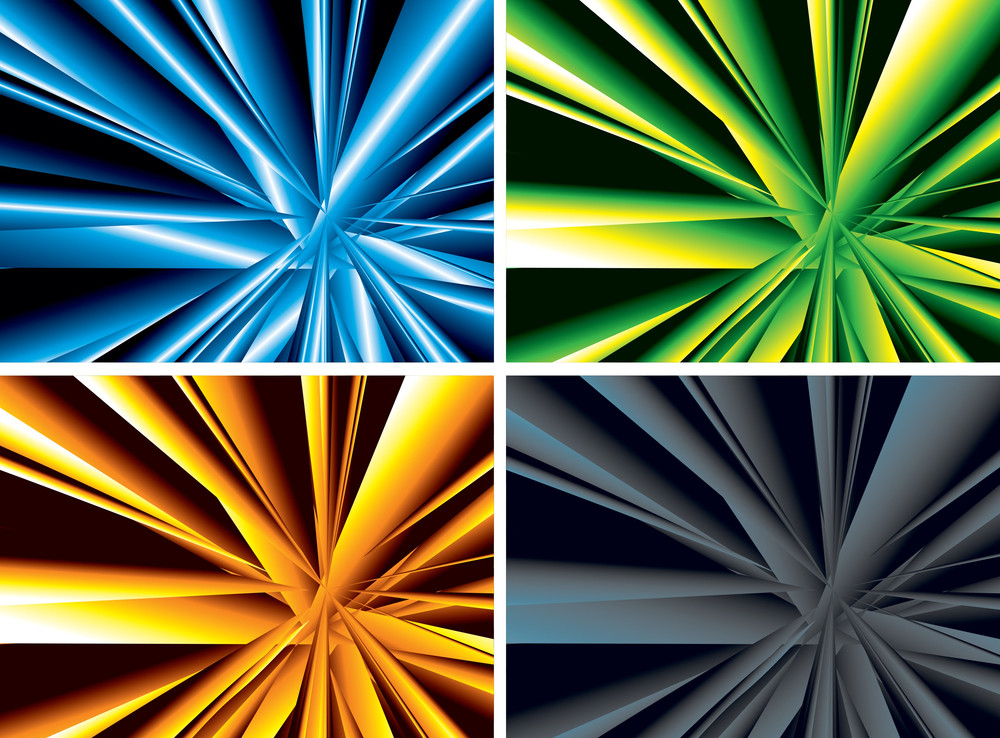 Color Burst. Vector Background.