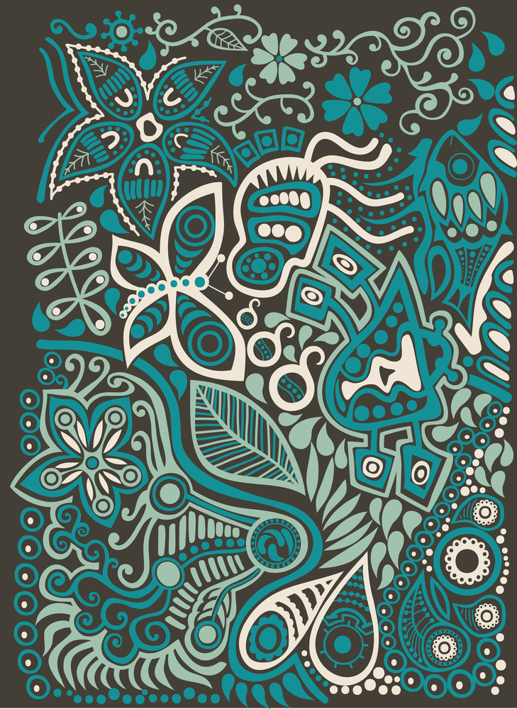 Color Doodle Background