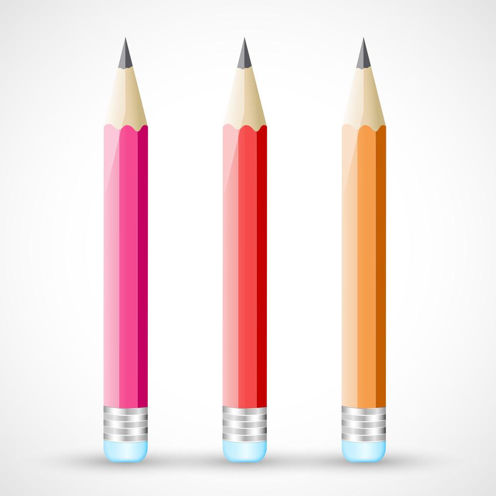 Color Pencils Vectors