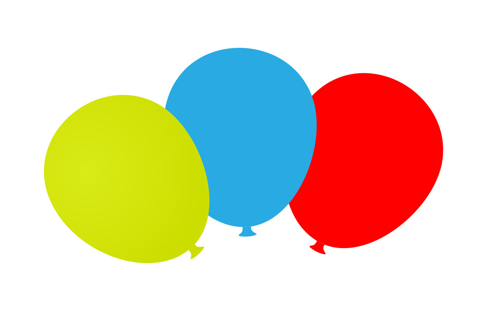 Colored Balloons Banner