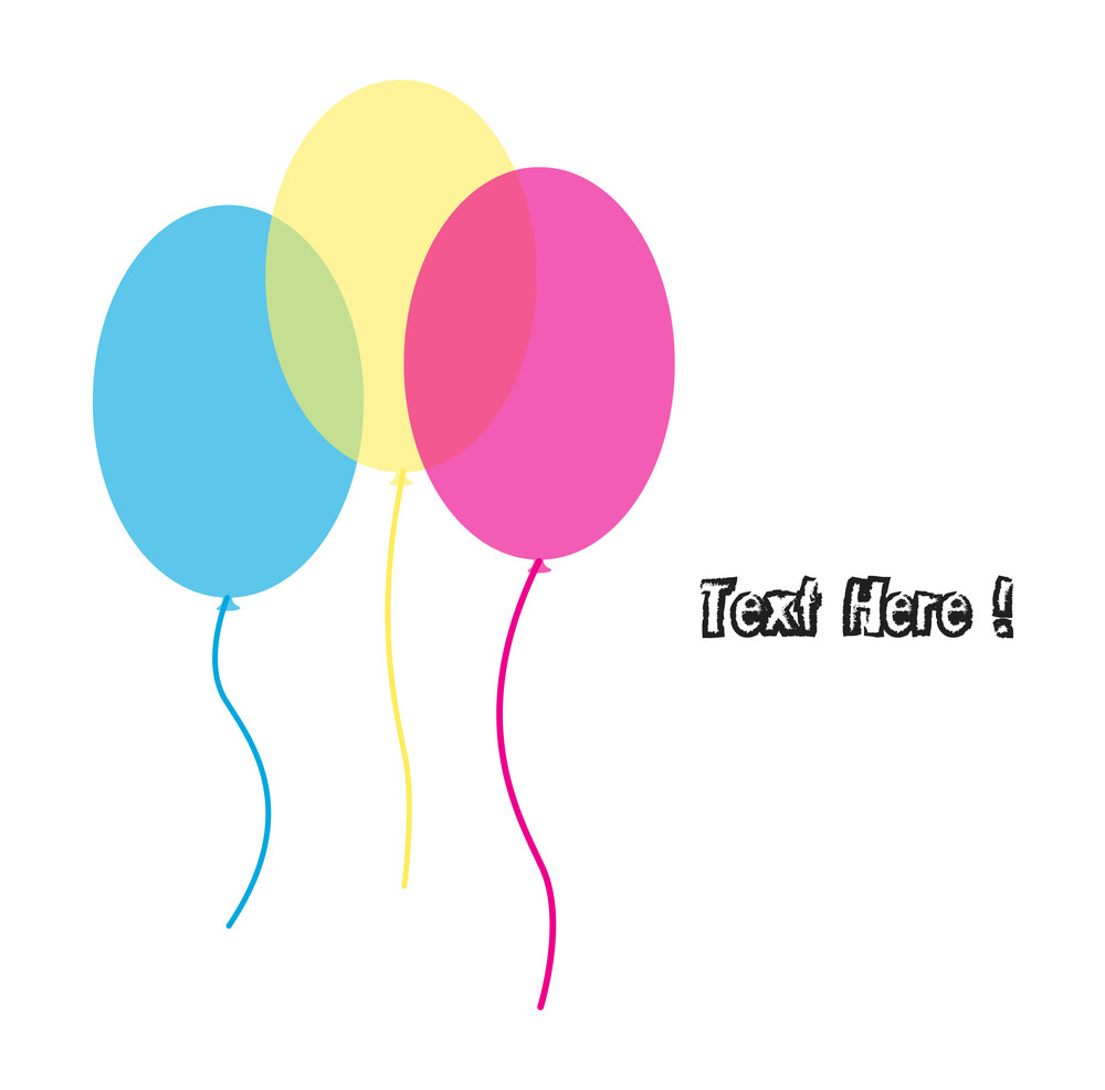 Colored Balloons Greeting