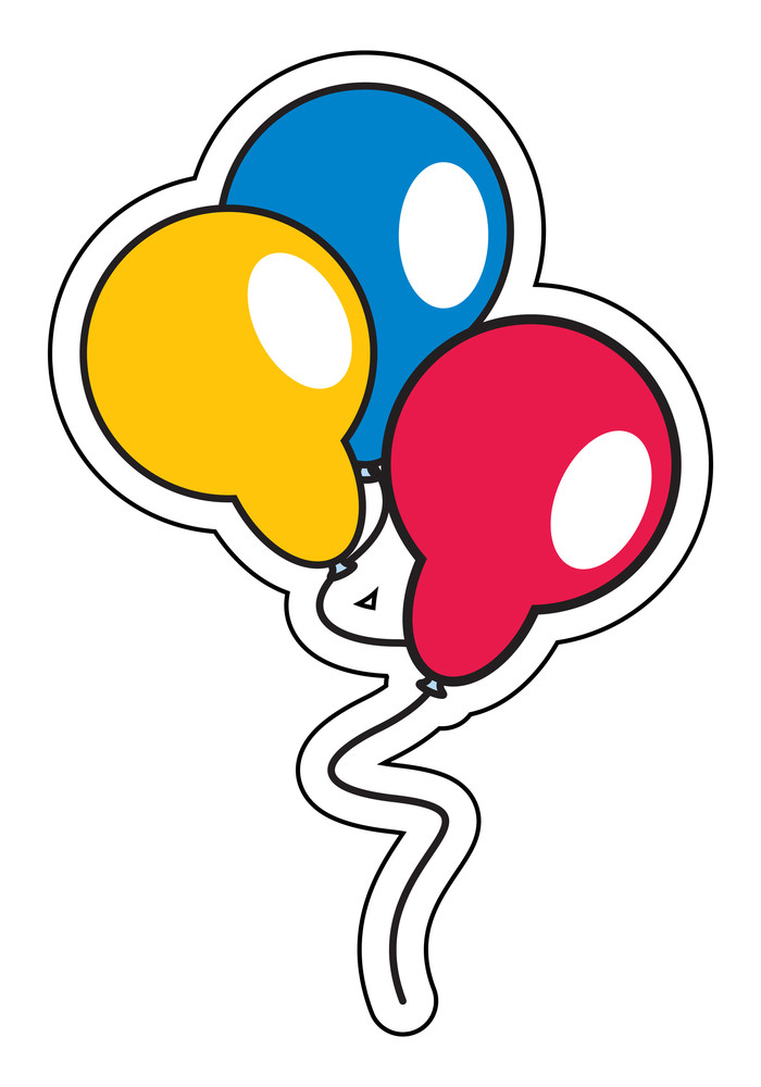 Colored Balloons Sticker