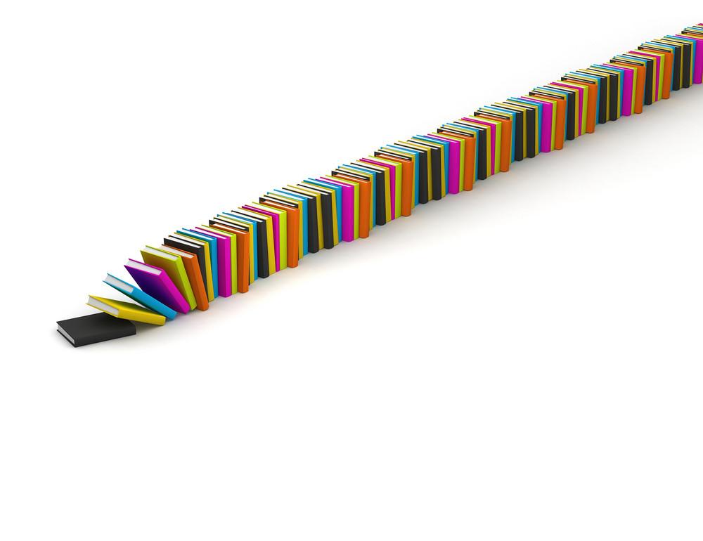 Colored Books Line