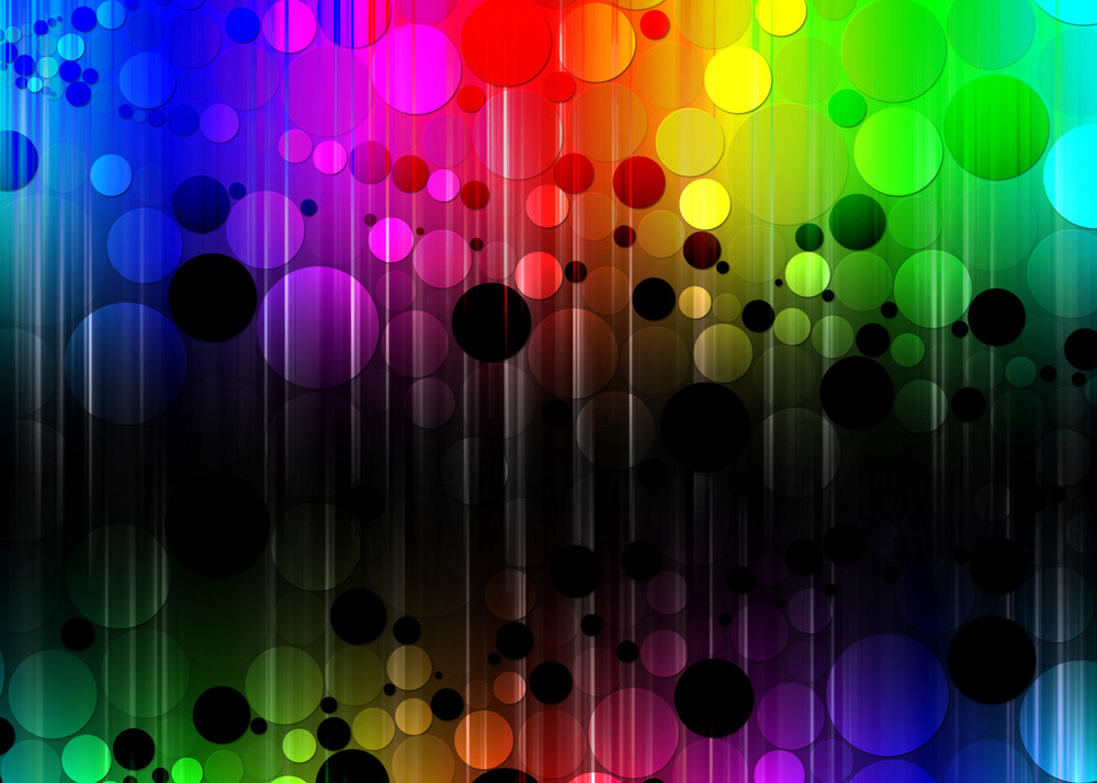 Colored Bubble Background