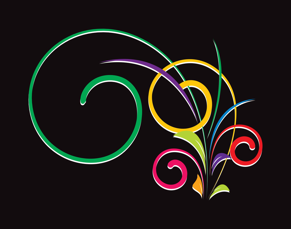 Colored Christmas Decor Swirls
