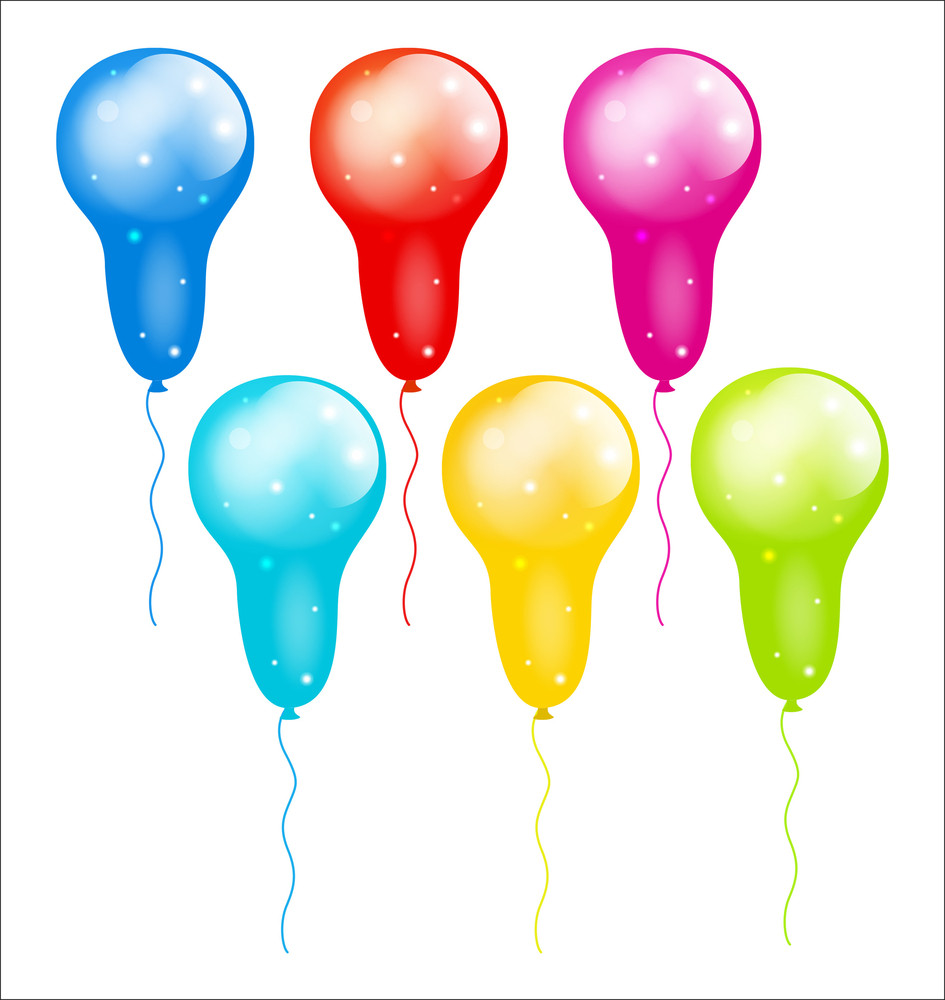 Colored Decorative Balloons Vector Collection