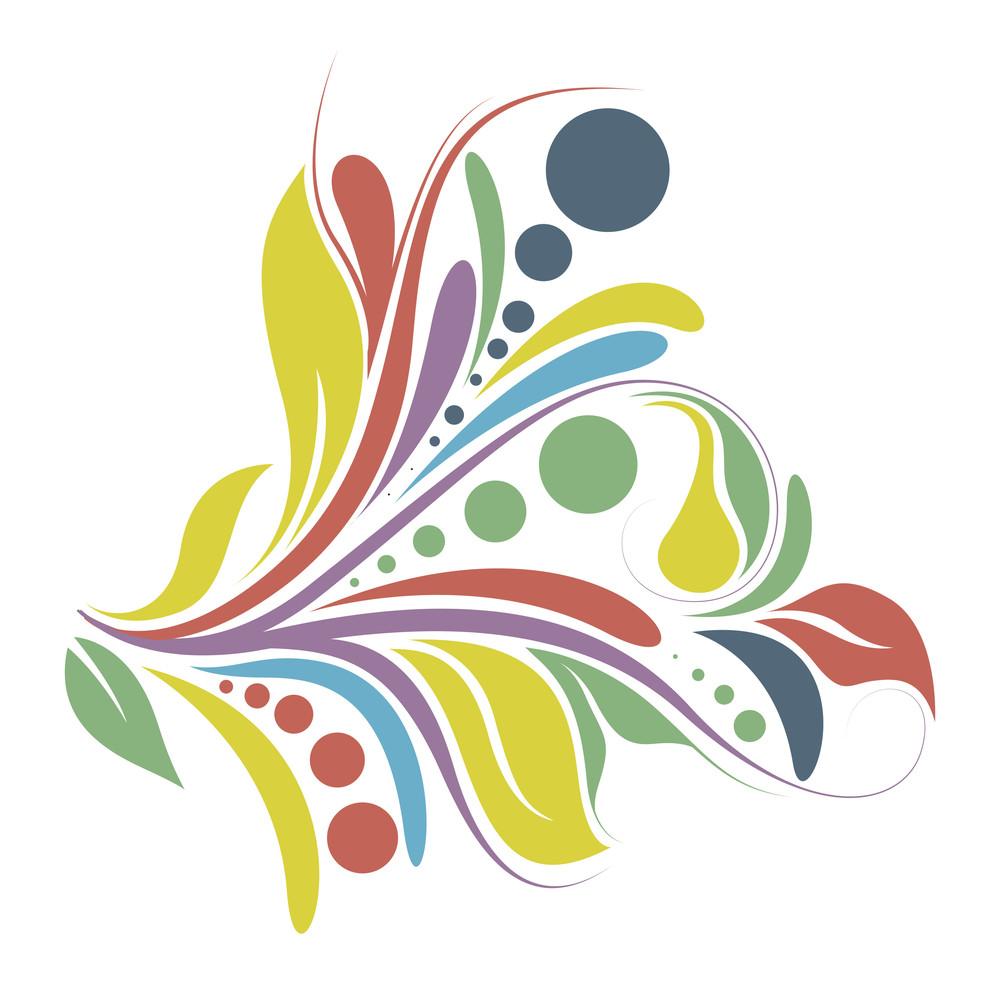 Colored Festive Floral Design