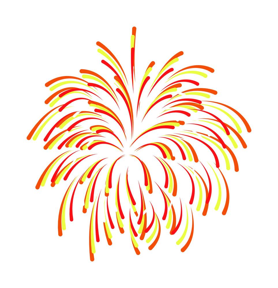 Colored Fireworks Background Design