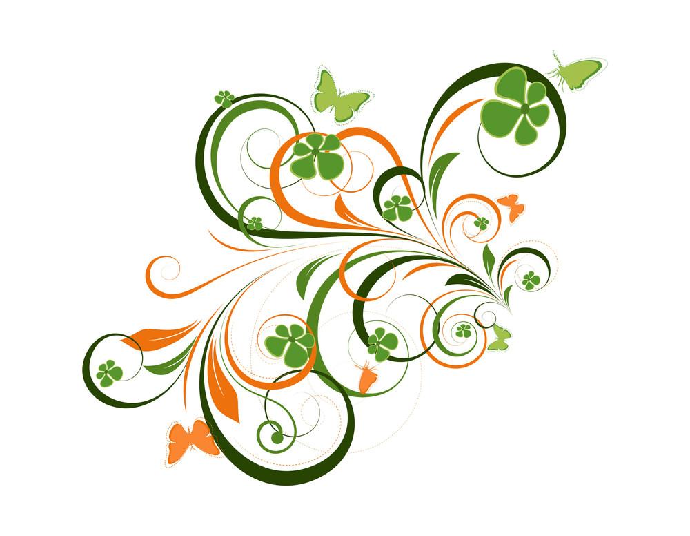 Colored Floral Design Art