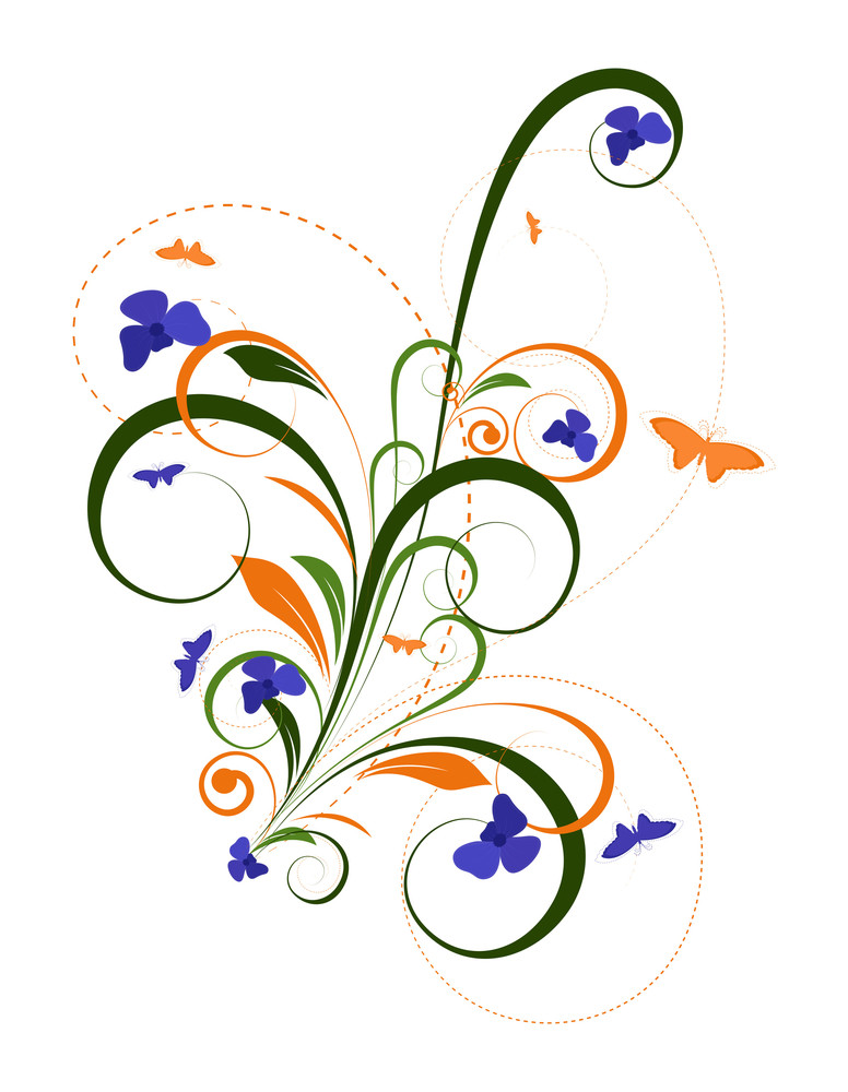 Colored Floral Graphics