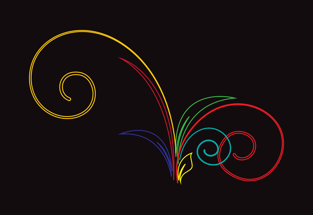 Colored Flourish Design Elements