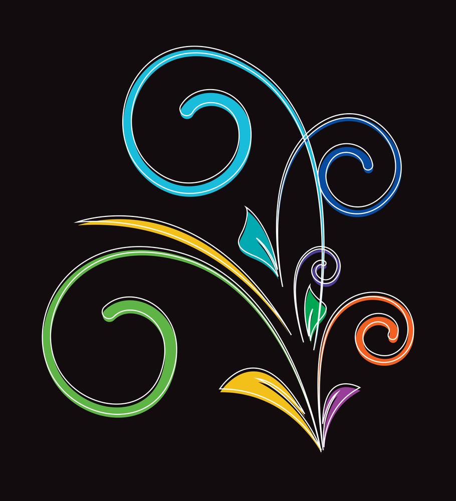 Colored Flourish Design