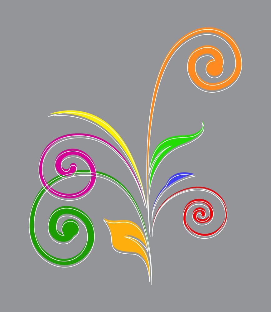 Colored Flourish Elements Design