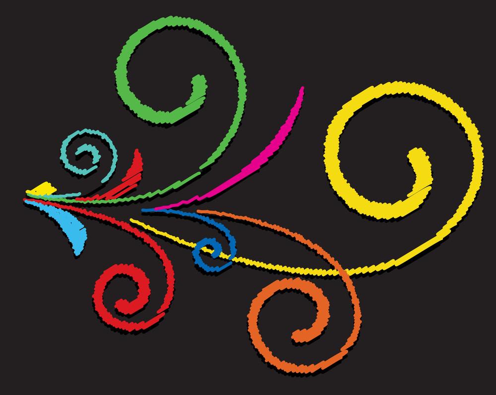 Colored Flourish Elements