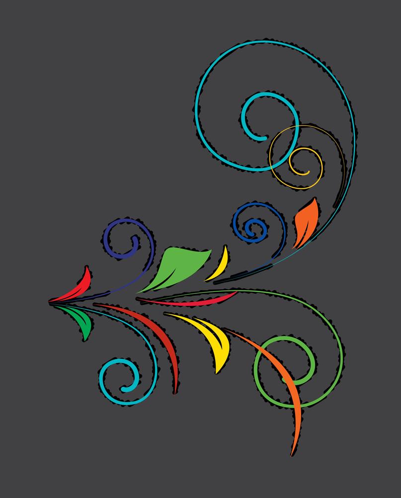 Colored Flourish Shape