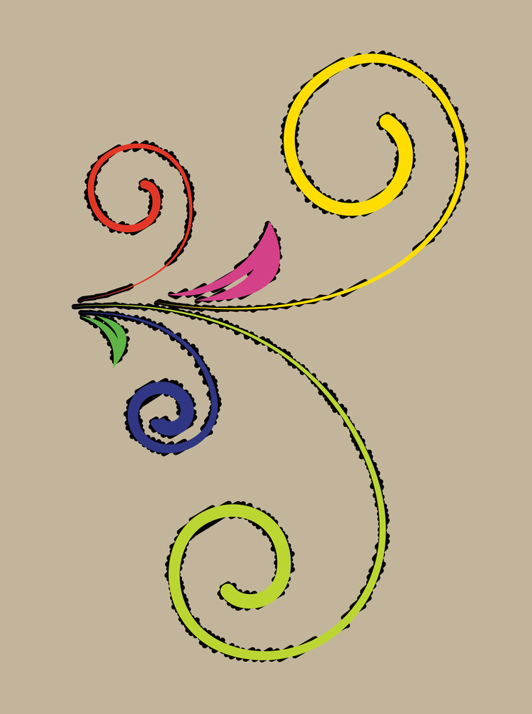 Colored Flourish Vector