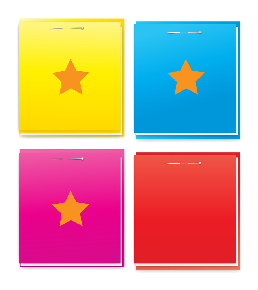 Colored Notepad Vector Designs