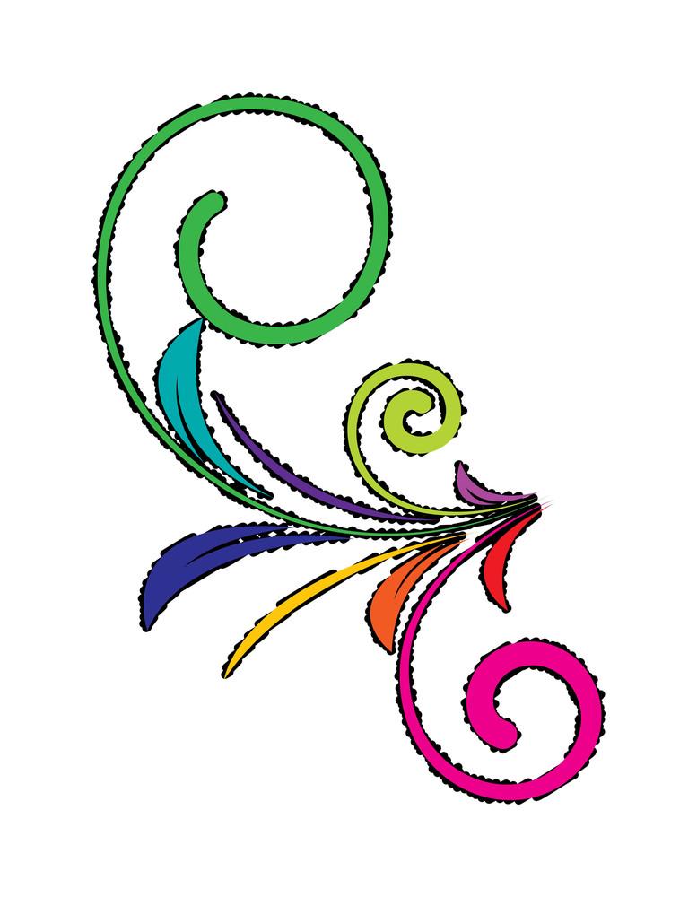 Colored Retro Florals