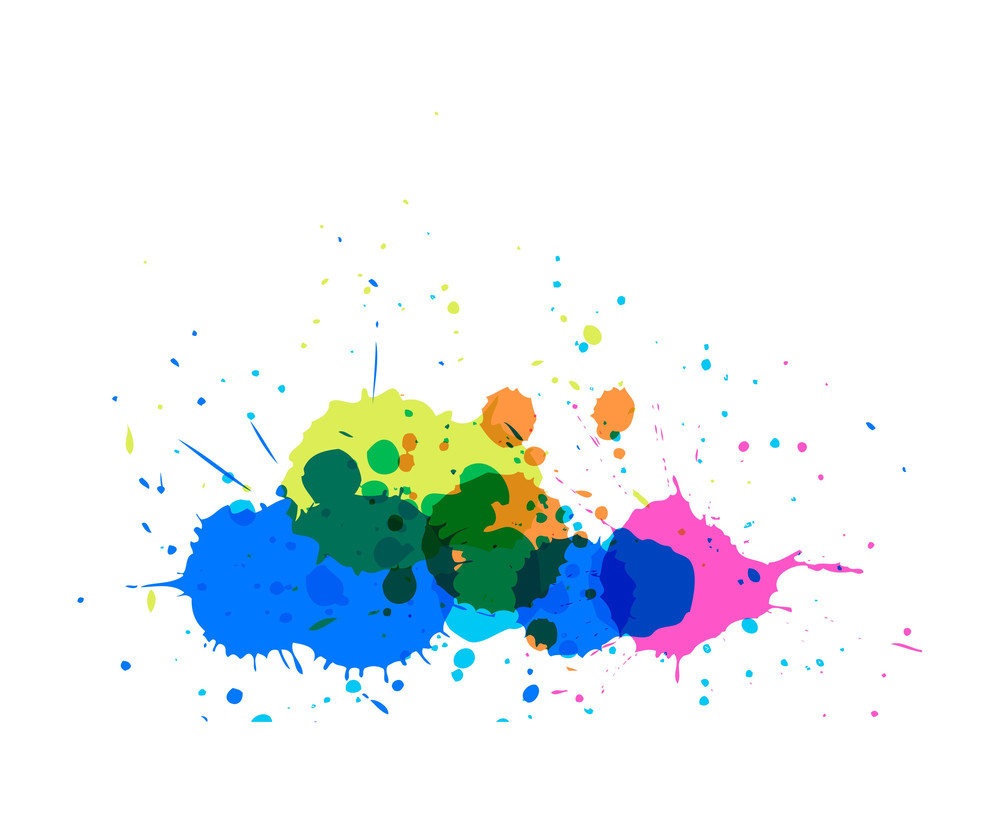 Colored Splashes Vector