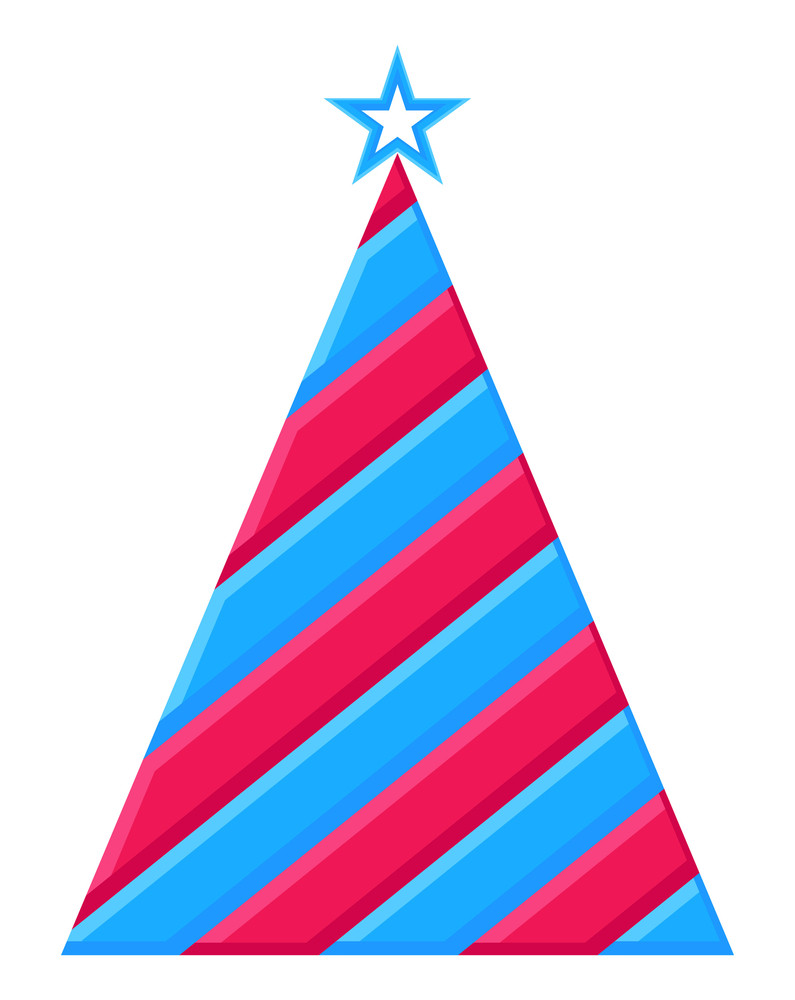 Colored Striped Christmas Tree