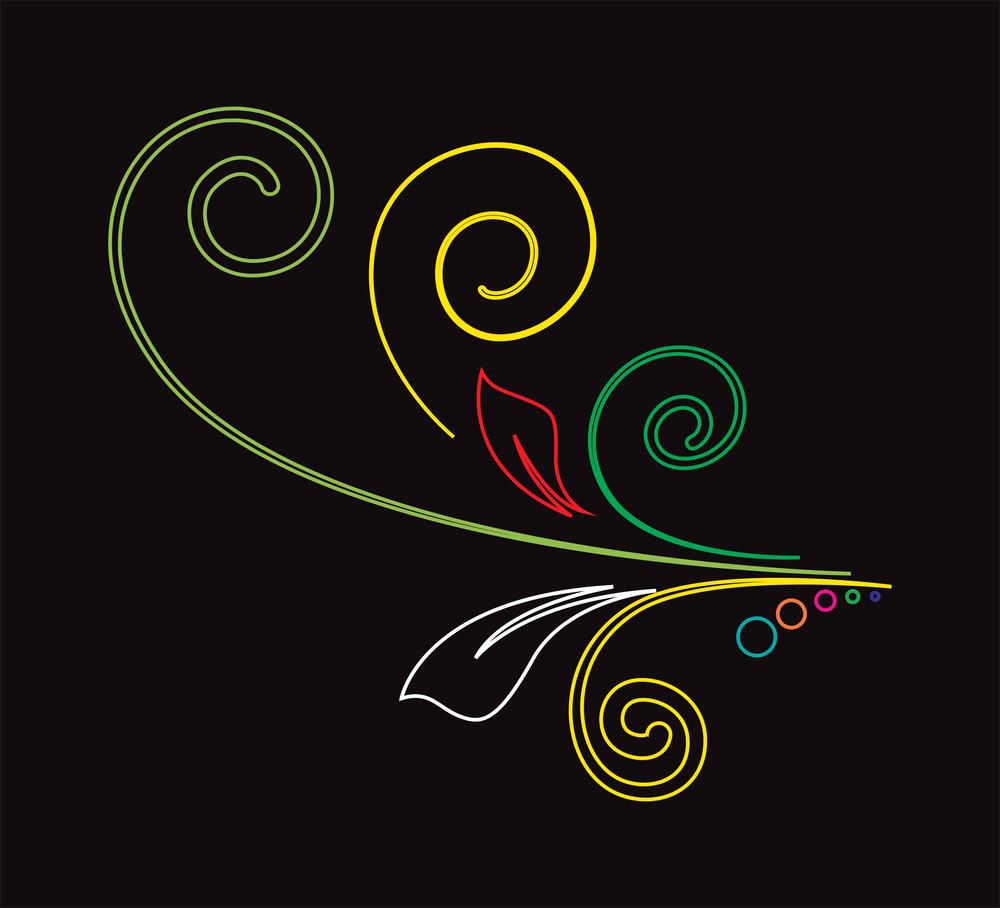 Colored Strokes Floral Design