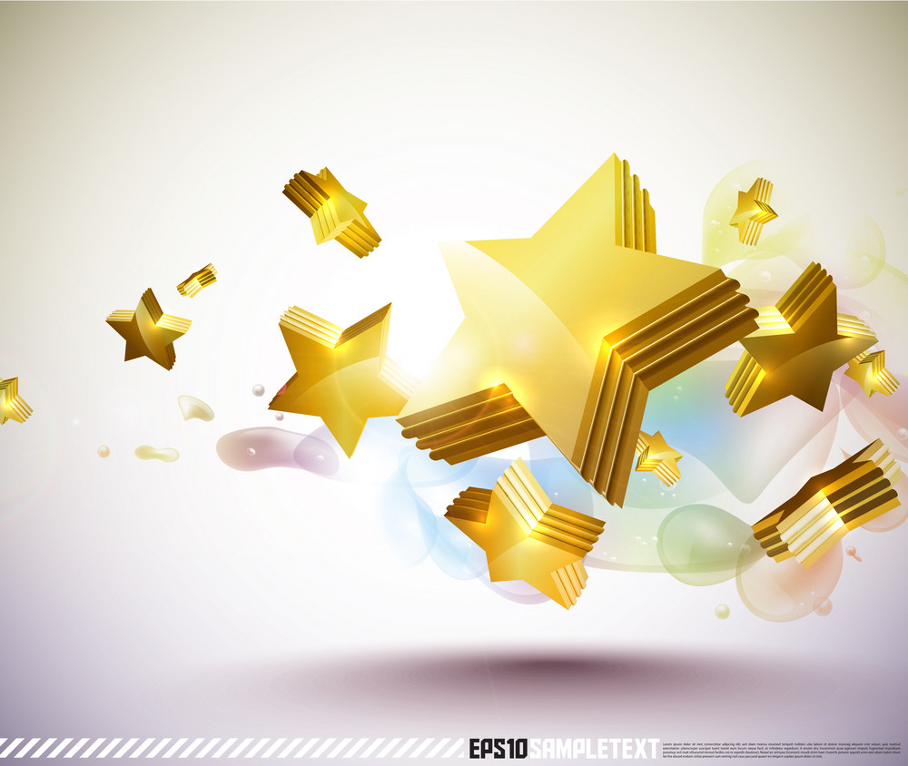 Colorful 3d Vector Stars