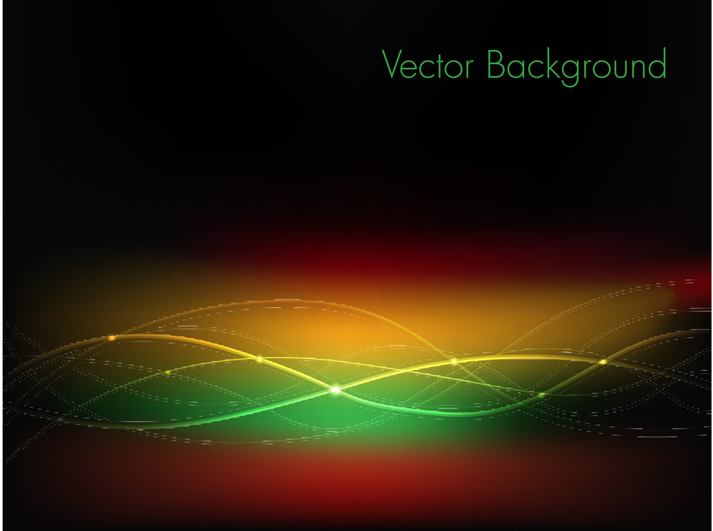 Colorful Abstract Background With Glowing Wave.