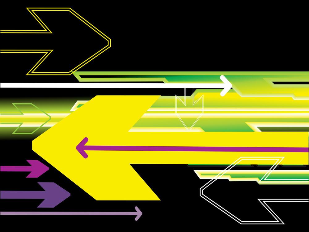 Colorful Arrows Illustration