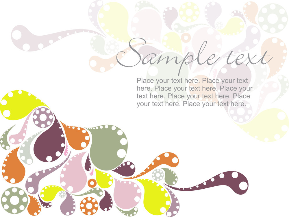 Colorful Artistic Vector Pattern Background