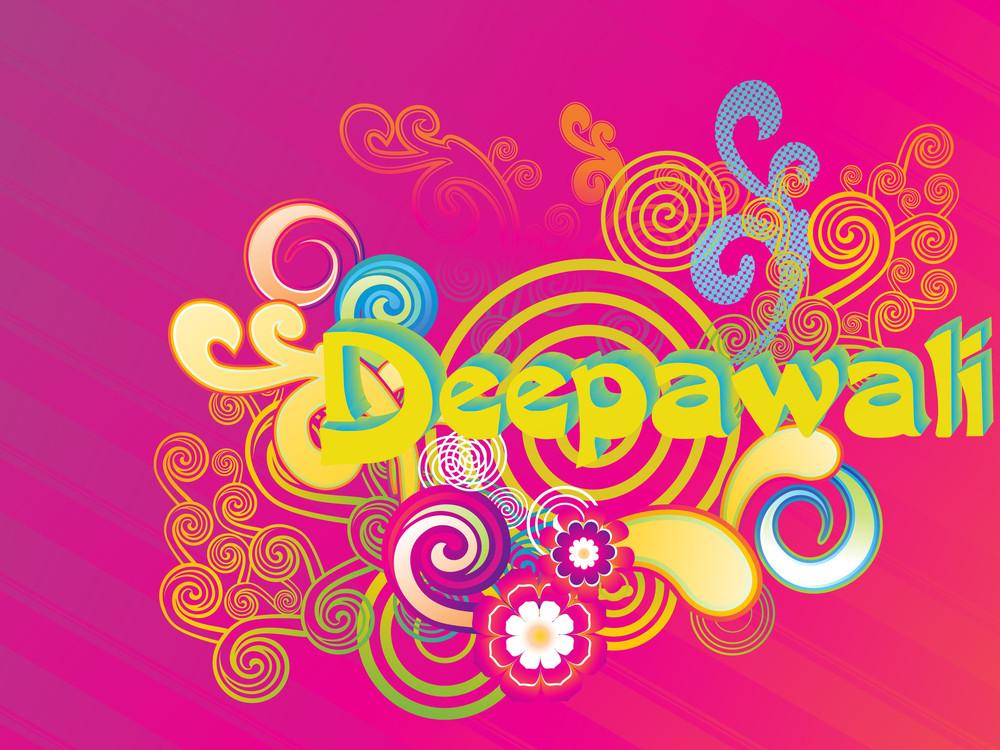 Colorful Artwork Background For Deepawali