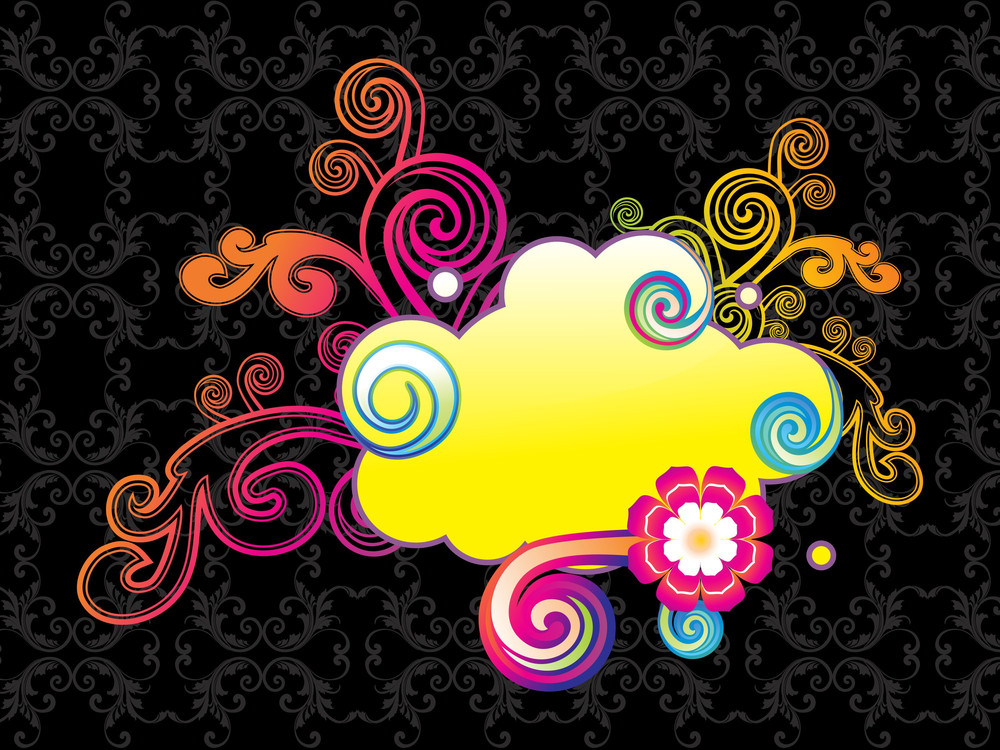 Colorful Artwork With Background