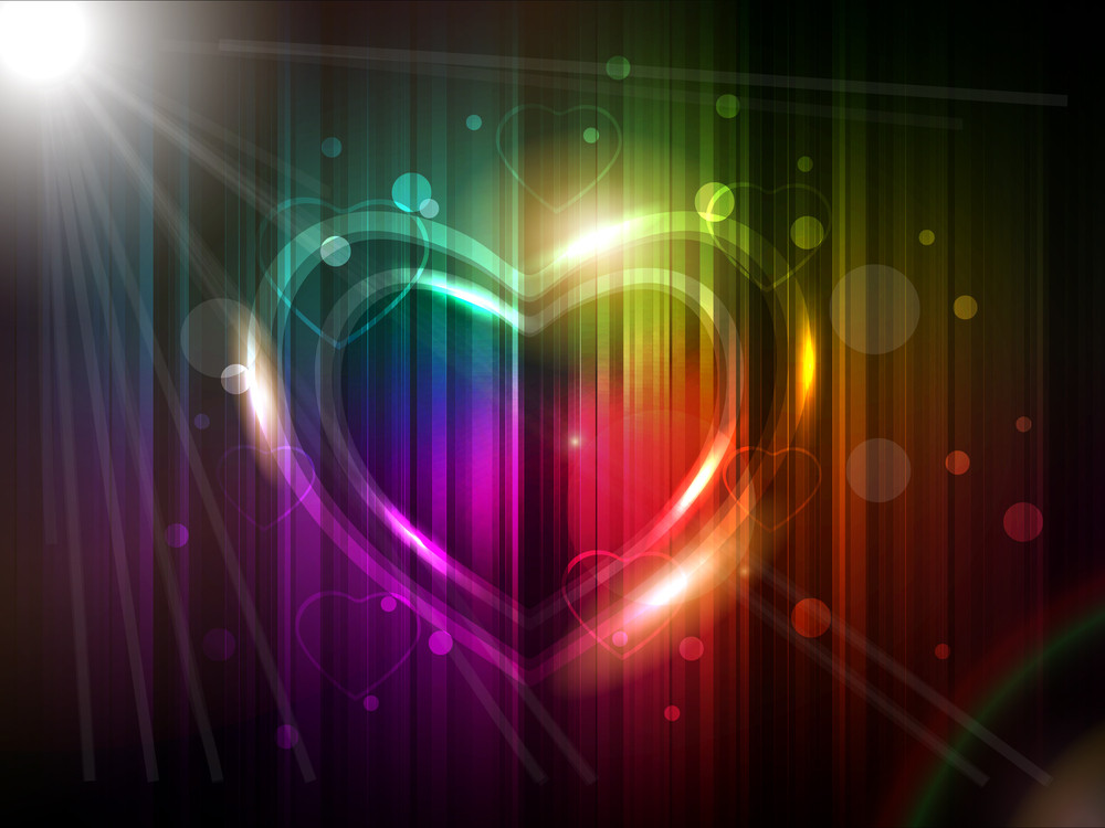 Colorful Background With A Heart. Vector.