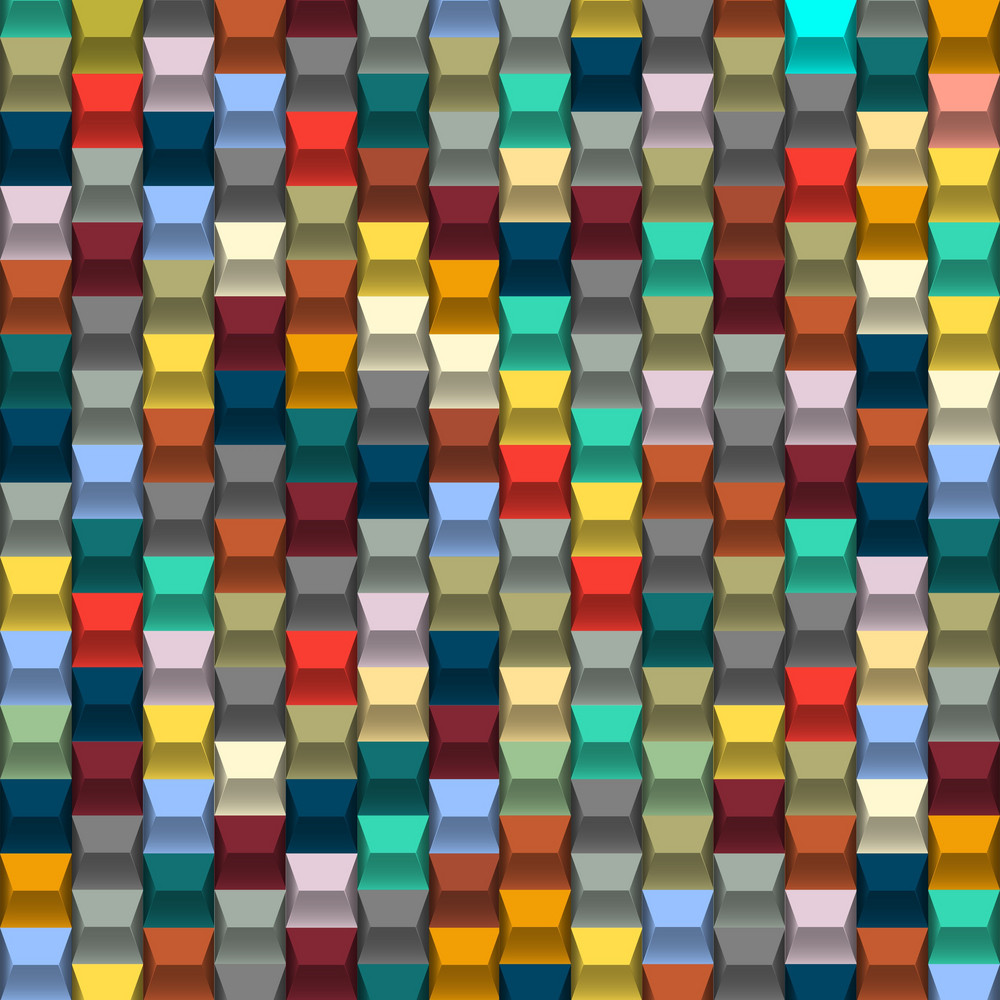 Colorful  Background With Blocks Structure
