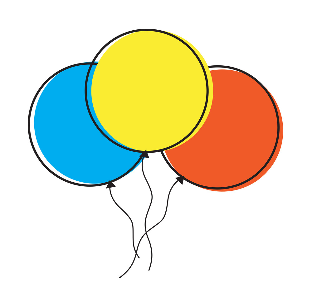Colorful Balloons Clipart