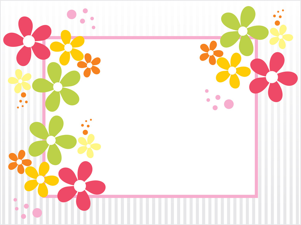 Colorful Bloom Card For Valentine