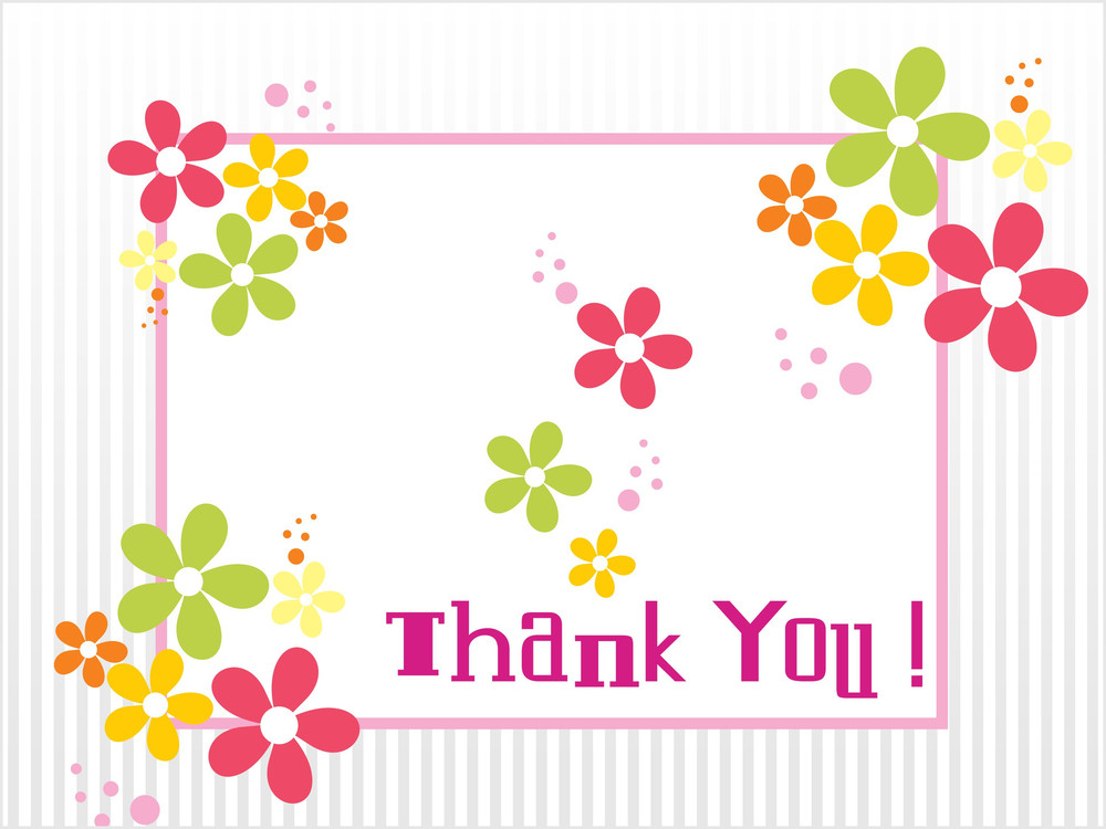 Colorful Bloom Pattern Thankful Background