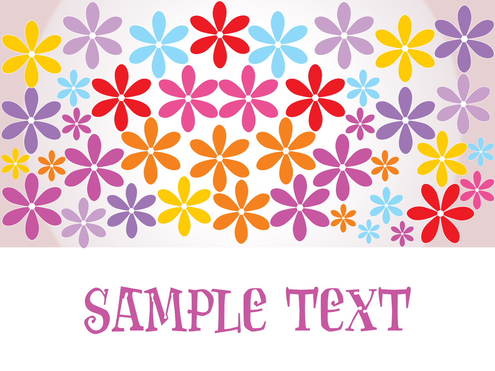 Colorful Bloom Pattern Wallpaper