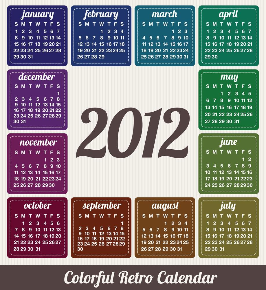 Colorful Calendar 2012