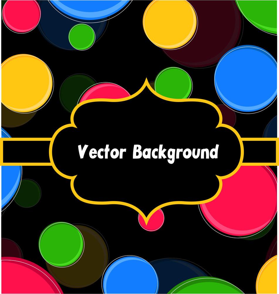 Colorful Circles Holiday Banner