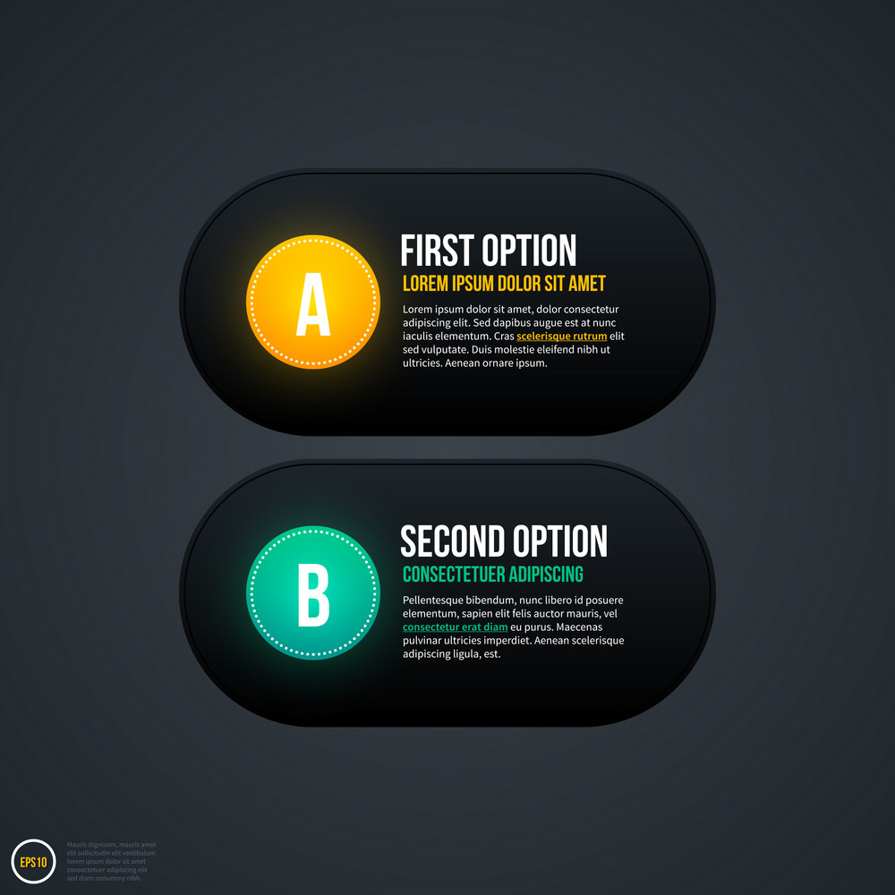 Two Simple Options For Web Design Or Advertising. Eps 10