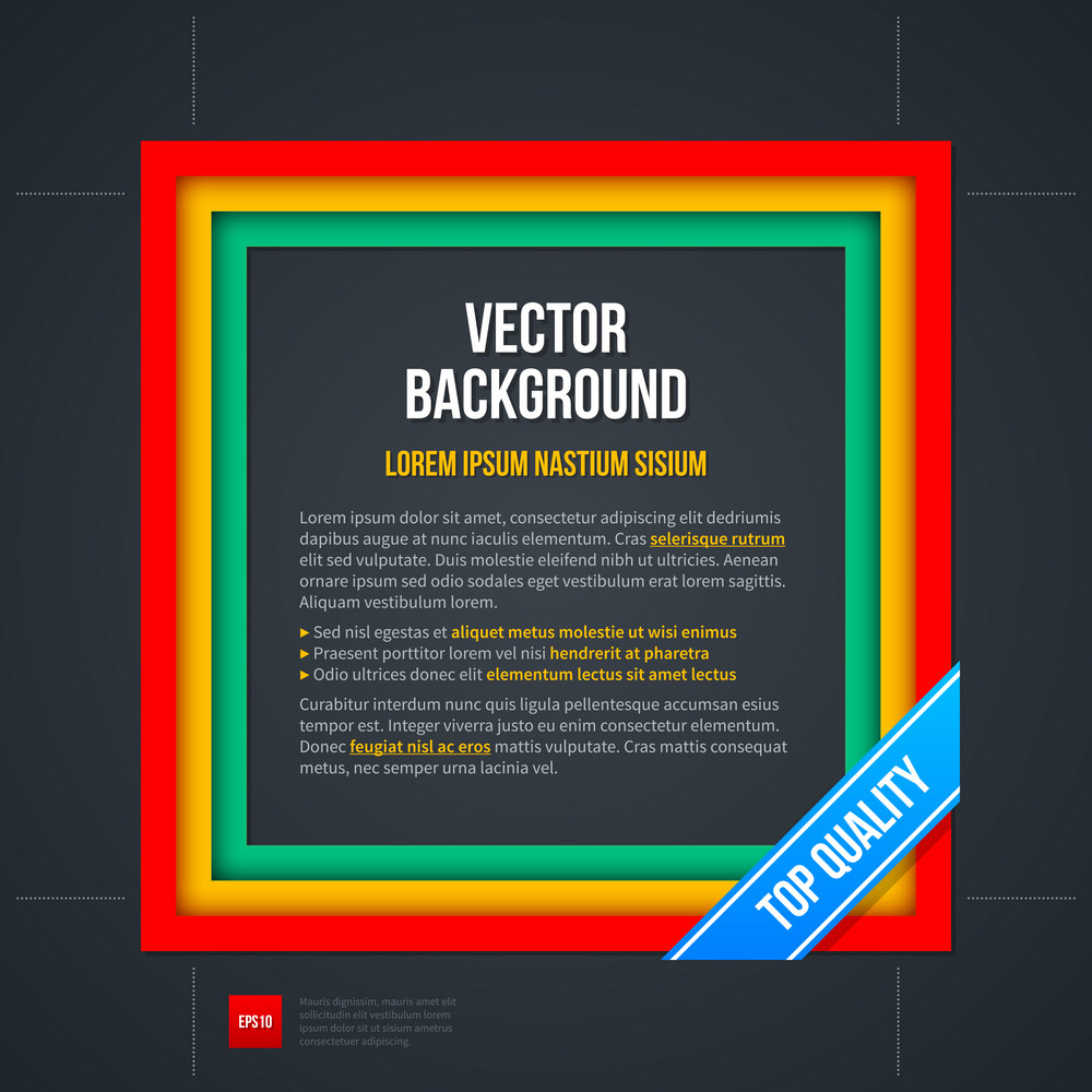 Vector Background With Colorful Square Frame.