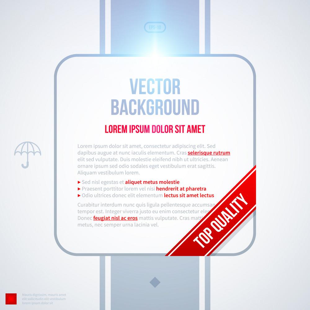 Transparent Text Frame On White Background. Eps10