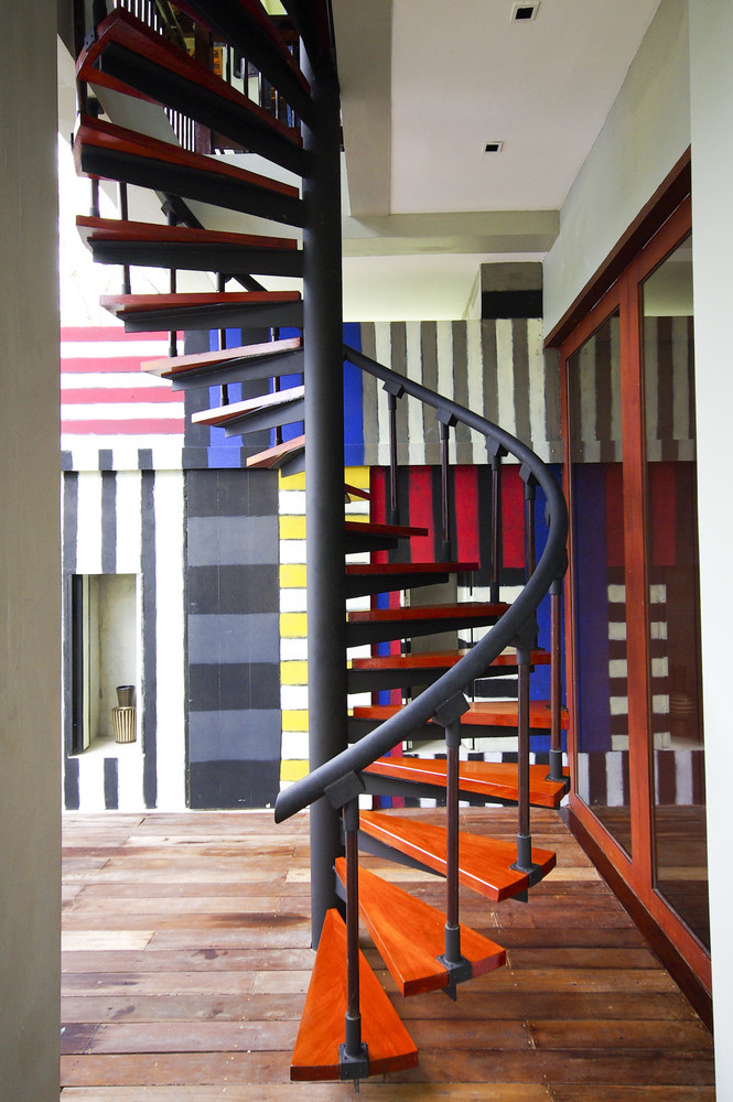 Colorful Curved staircase